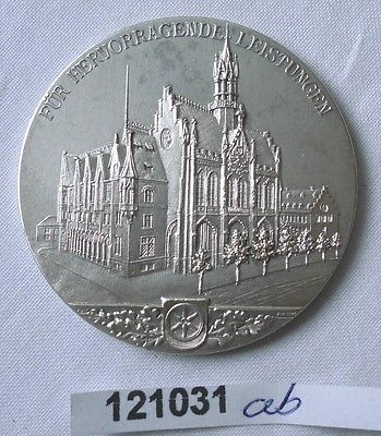 Seltene versilberte Medaille Thüringer Ausstellung Erfurt 1906 (121031)