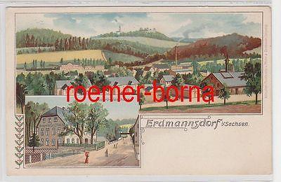 76055 Mehrbild Ak Erdmannsdorf in Sachsen Knorrs Gasthaus um 1900