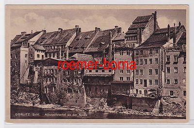 81379 Ak Görlitz Schl. Altstadtviertel an der Neiße um 1920