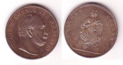 1 Taler Silber Münze Siegestaler Preussen 1871 A 106163 Nr