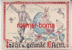 79506 handgemalte Feldpostkarte frohe und gesunde Ostern um 1940