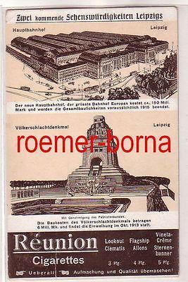 78779 Ak Werbung Leipzig Réunion Cigarettes kommende Sehenswürdigkeiten um 1913