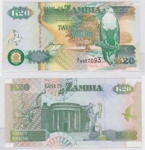 20 Kwacha Banknote Zambia Sambia 1992 kassenfrisch (123425)