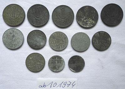 13 Zink Notmünzen Böhmen und Mähren 1940-1944 (101974)