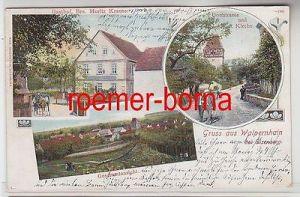 78034 Mehrbild Ak Gruß Walpernhain bei Eisenberg Gasthof usw. 1911