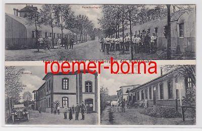 82676 Mehrbild Ak Gruß aus dem Lager Sperenberg an der Militärbahn 1916