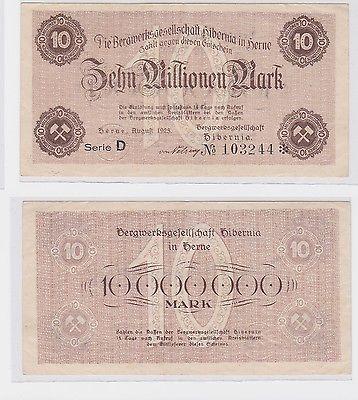 10 Millionen Mark Banknote Bergwerksgesellschaft Hibernia In Herne