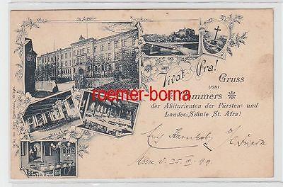 72345 Ak Gruss vom Commers der Abiturienten der Fürstenschule St. Afra 1899