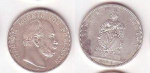Schöne Silber Münze 1 Siegestaler Preussen 1871 vz (105151)