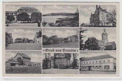 70451 Mehrbild Ak Gruß aus Brandis Bahnhof usw. 1943