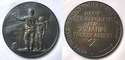 Seltene Silber Medaille Bergbau für 25 Jahre treue Arbeit (123136)