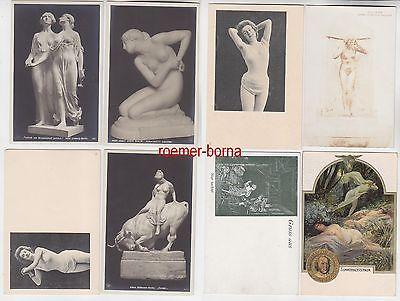 78921/8 Erotik Ak Nackte Damen, Akt, Kunst usw. um 1910