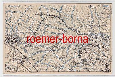 Karte Spreewald Lubbenau.78790 Wona Karte Vom Spreewald Nr 1501 Umgebung Von Leipe Lubbenau Burg Um 1920