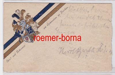 85205 Studentika Ak Spiel- & Fechtverein am Gymnasium zu Zwickau 1913