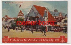 69882 Ak 16. Deutsches Bundesschiessen Hamburg 1909 Wurstglöckchen von C. Böhle