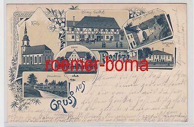 73389 Mehrbild Ak Gruß aus Ponitz Gasthof usw. 1899