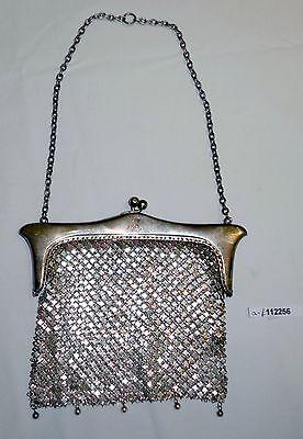 Traumhafte Operntasche 935er Silber mit Initialen MR 1904 (112256)