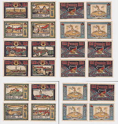 12 Banknoten Notgeld Corbach Sportverein 09, 1922 (123253)