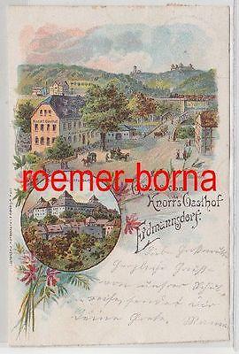 18914 Ak Lithographie Gruss von Knorrs Gasthof Erdmannsdorf 1901