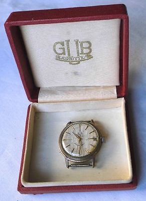 Seltene Glashütte Herren Armbanduhr Automat mit Etui (112861)