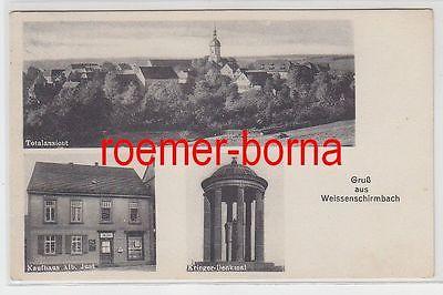 80833 Mehrbild Ak Gruß aus Weissenschirmbach Kaufhaus usw. 1934