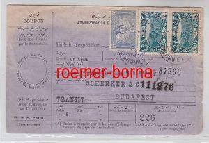 75958 seltene Paketkarte Türkei nach Budapest 1918