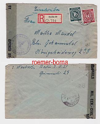 82536 Einschreiben Brief Kriegsgefangenenpost Berlin 1946