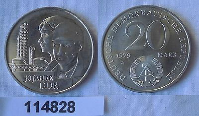 DDR Gedenk Münze 20 Mark 30.Jahrestag der DDR 1979 (114828)