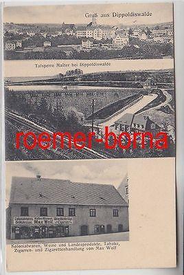 78049 Mehrbild Ak Gruß aus Dippoldiswalde Kolonialwaren Max Wolf usw. 1927 0