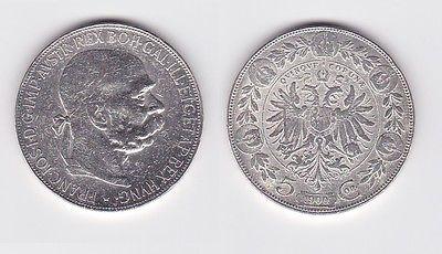5 Kronen Silber Münze österreich Kaiser Franz Josef 1900 122157 Nr