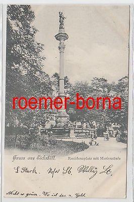 79089 Ak Gruss aus Eichstätt Residenzplatz mit Mariensäule 1899