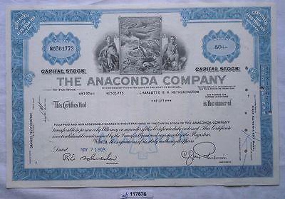 Aktie 50 Dollar Bergbau The Anaconda Company Montana 1968 (117676)