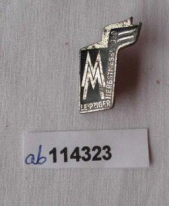 Abzeichen Leipziger Herbstmesse 1960 für Besucher Aussteller Ausland (114323)