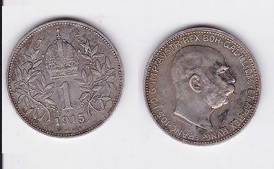 1 Krone Silber Münze Österreich 1915 (117689)