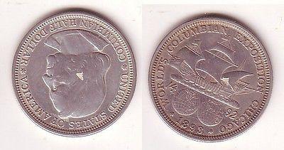 12 Dollar Silber Münze Usa Kolumbus Ausstellung Chicago 1892
