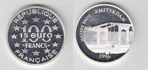 100 Franc Silber Münze Frankreich Bedeutende Bauwerke 1996 (114896)