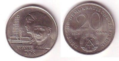 DDR Gedenk Münze 20 Mark 30.Jahrestag der DDR 1979 (112990)
