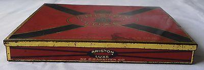 Seltene Blechdose Zigarettenfabrik Ariston Luxe um 1930 (113351)