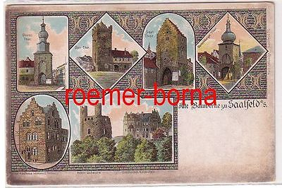33157 Mehrbild Ak Alte Bauwerke zu Saalfeld a.S. um 1900