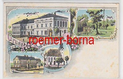 77388 Ak Lithografie Gruss aus Leubsdorf Gasthof Friedenseiche usw. 1911