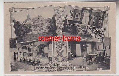 71240 Ak Frankfurt Oder Offiziers Kasino des Feldartillerie Regiments General