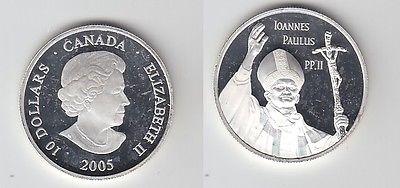 1 Dollar Silber Münze Kanada Papst Johannes Paul Ii 2005 116476 Nr
