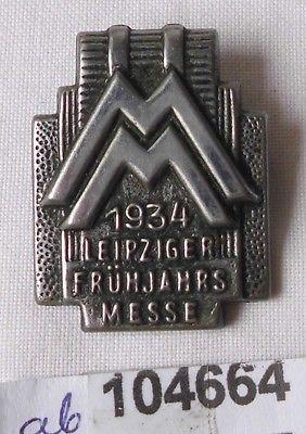 Seltenes Blech Abzeichen Leipziger Frühjahrsmesse 1934 (104664)