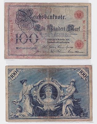 100 Mark Banknoten Kaiserreich Deutsches Reich 18.12.1905 (117337)