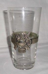 Glas Jagd Schützen mit Metallband Dem Meisterschaftsschützen 1923 Zeitz (109727)
