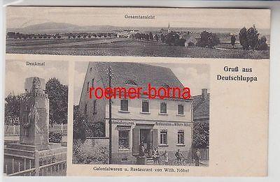 72914 Mehrbild Ak Gruß aus Deutschluppa Kolonialwaren u. Restaurant 1938