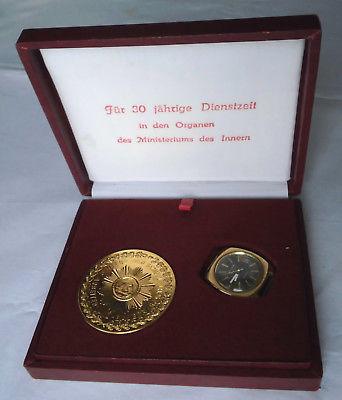 Etui mit vergoldeter Herren Armbanduhr Marke Glashütte Spezimatic (111852)