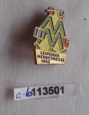 Abzeichen Leipziger Herbstmesse 1962 für Besucher Aussteller Ausland (113501)