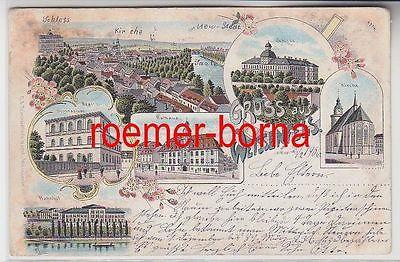 75738 Ak Lithografie Gruss aus Weissenfels Bahnhof, Gymnasium usw. 1906