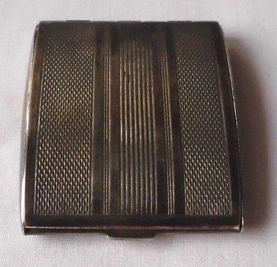 Schöne kleine Dose 835er Silber mit Spiegel Puderdose um 1930 (105412)